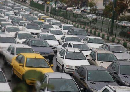 ترافیک سنگین صبحگاهی در مسیر ۱۴ بزرگراه پایتخت