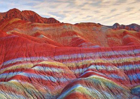 کوههای رنگارنگ و زیبای تبریز